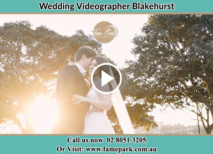 Bride and Groom hold each other during sunset Blakehurst NSW 2221